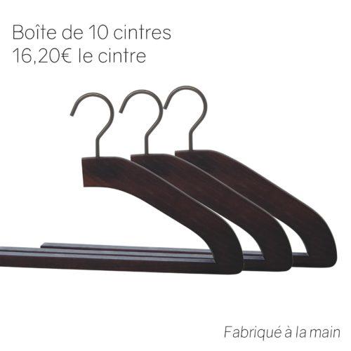 Cintres de luxe en bois pour pantalon - coloris noyer