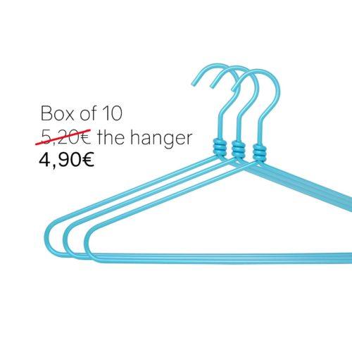 Luxury blue aluminium hangers