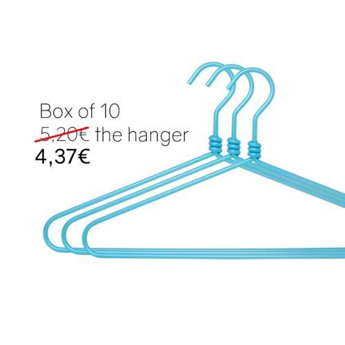 Blue aluminium hangers