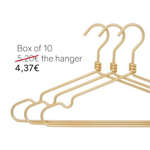 Golden aluminium hangers