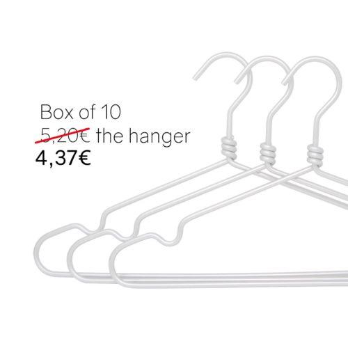 Silver aluminium hangers