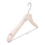 cintre en bois avec encoches pour robe et top à bretelles - 38 cm