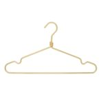 10 aluminium hangers for dressing room - Golden color