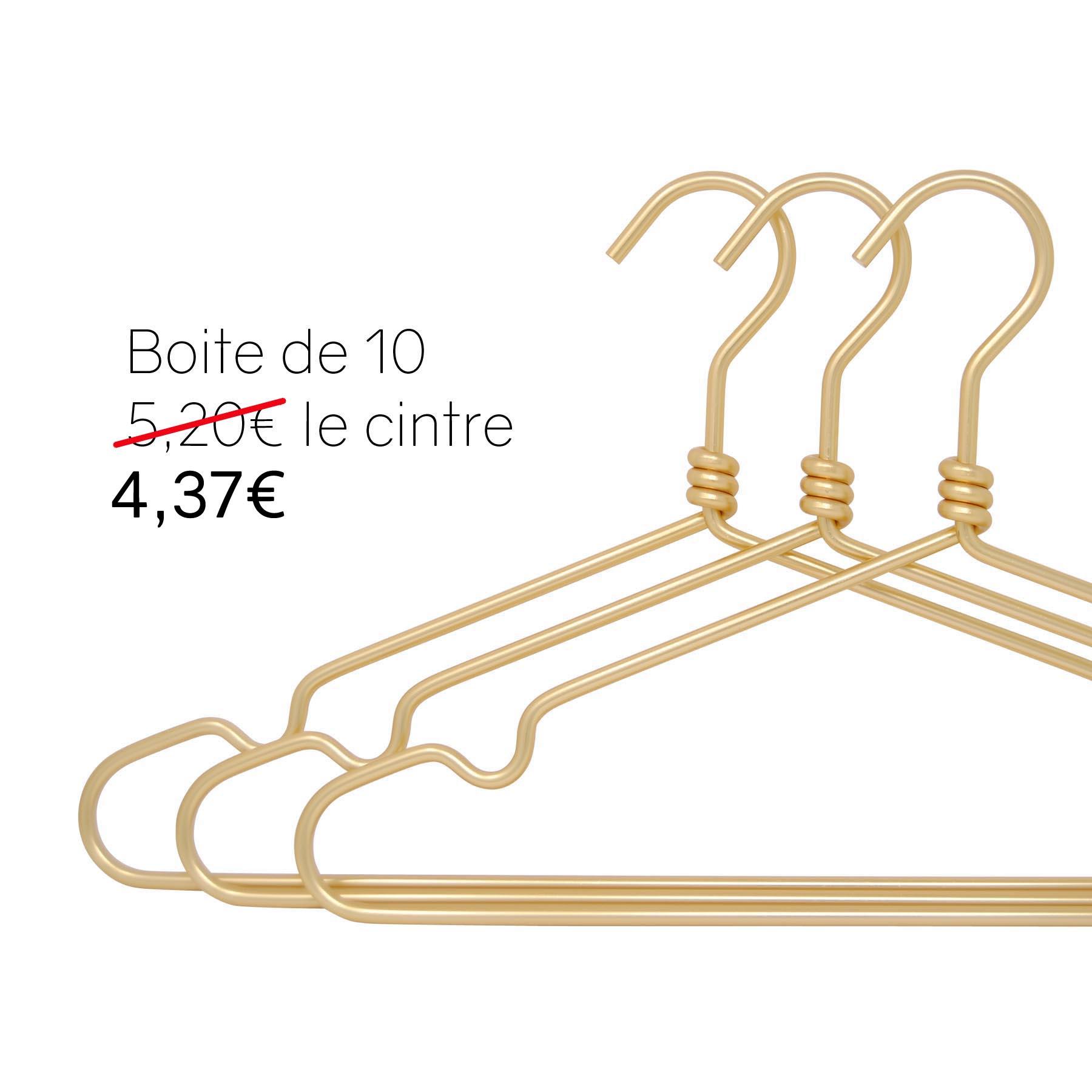 cintres en aluminium doré