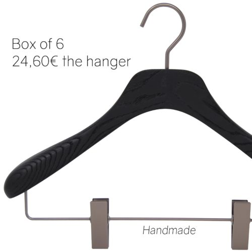 Luxury wooden hangers for man and woman suit, jacket, skirt and trousers
