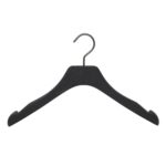 cintres pour robe et chemisier en bois noble noir mat avec encoches