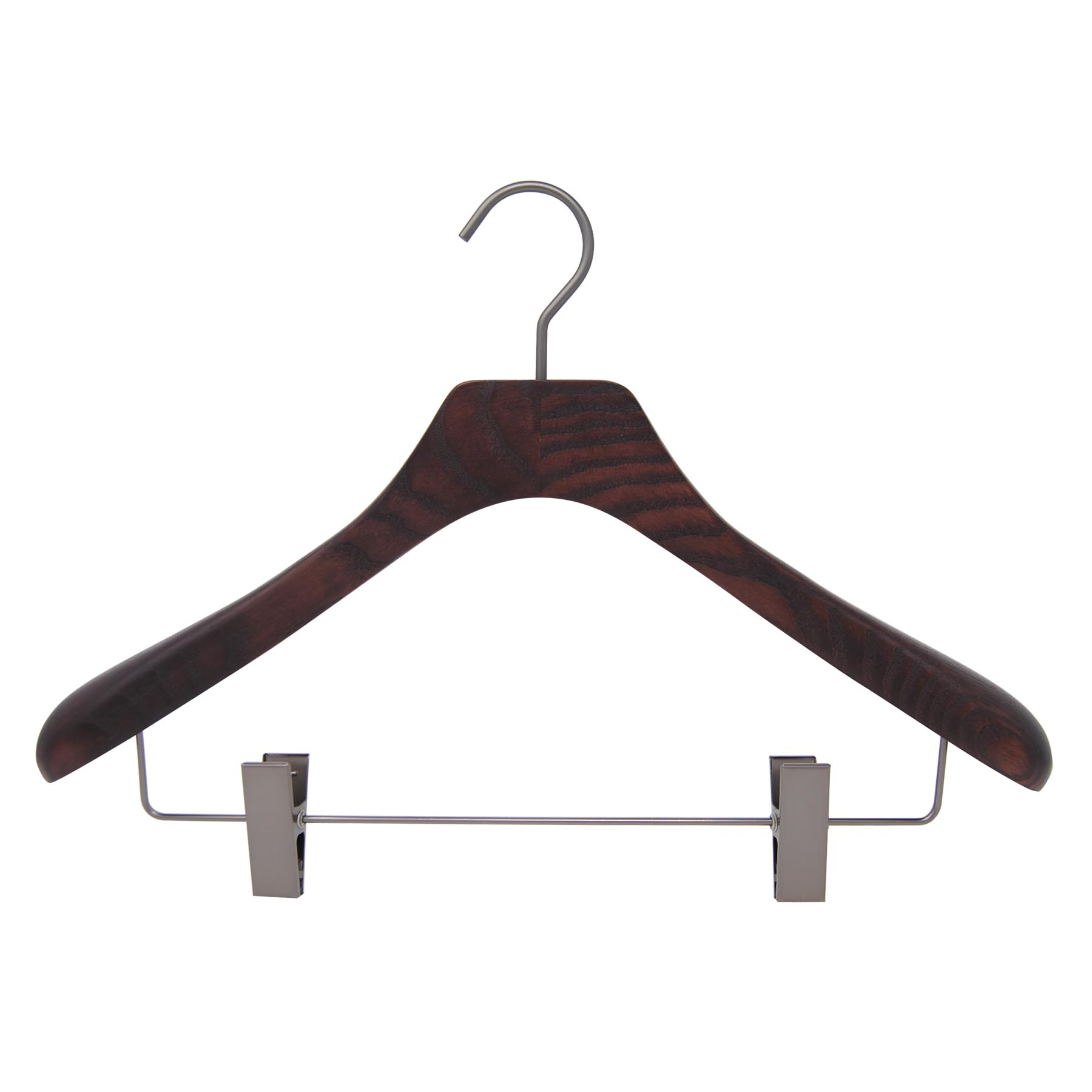6 cintres pour homme ou femme pour veste, costume, ou tailleur - coloris noyer rmat