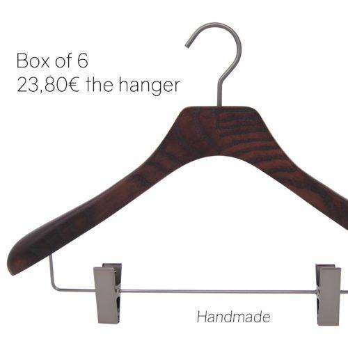 Jacke aus Holz Kleiderbügel für Mann und Frau-Walnuss-clips42