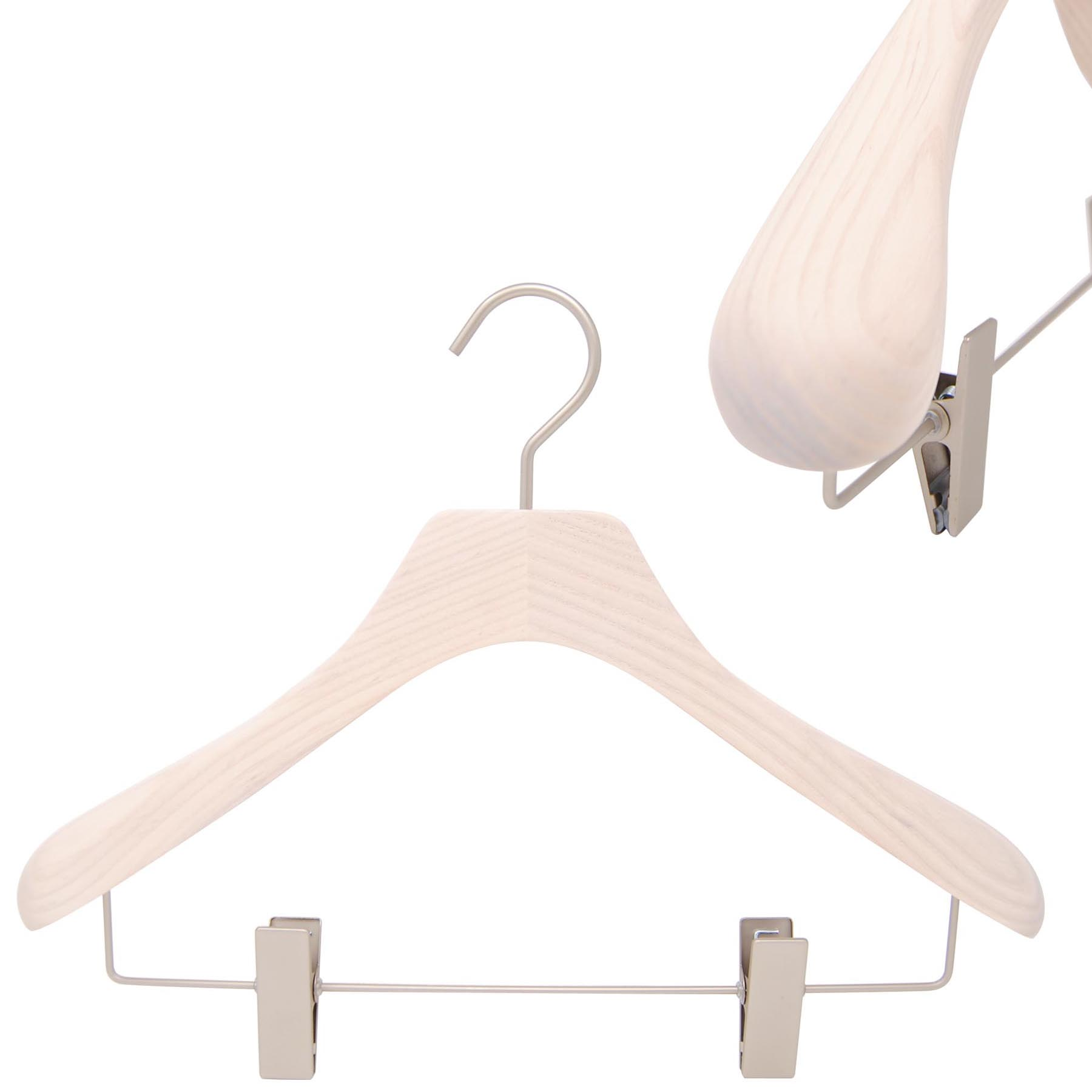 Pack of 10 Wooden Hangers | Dunelm