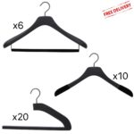 set of luxury hangers for men