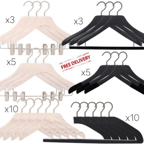 luxury wooden hangers for men and women