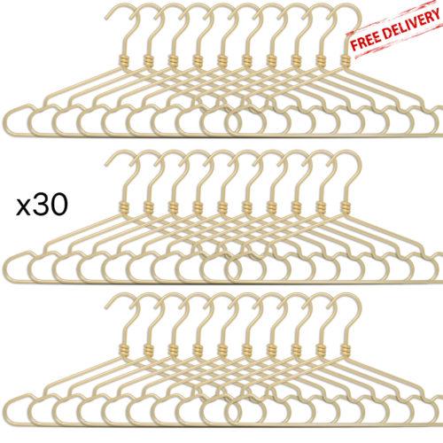 set of 30 aluminium hangers - golden