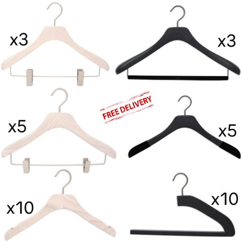Set of luxury hangers for men and women