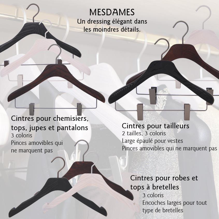 Cintres de luxe pour femme (tailleur,robe,veste)