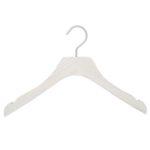 Cintres pour robe, en bois coloris blanc lasuré