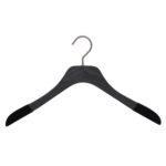 Cintre fin de luxe en bois pour chemise, coloris noir